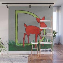 D is for Deer Wall Mural