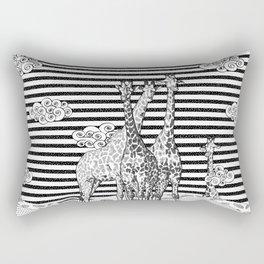 Giraffes Black and White Rectangular Pillow