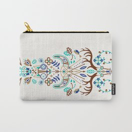 La Vie & La Mort – Turquoise and Brown Carry-All Pouch