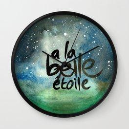 "French Quote Art ""A la belle etoile"" Wall Clock"