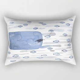 Ravens Fish and Leaves Rectangular Pillow