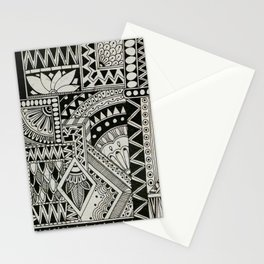Retro Flower Doodle Stationery Cards
