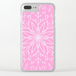 Single Snowflake - Pink Clear iPhone Case