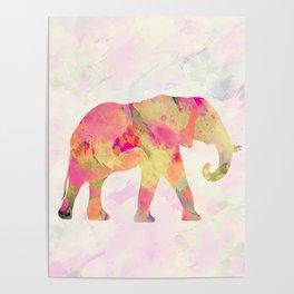 Abstract Elephant II Poster