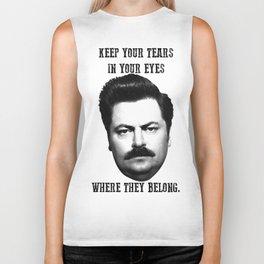 Keep your tears in your eyes Biker Tank
