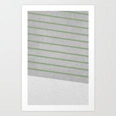 Concrete & Stripes II Art Print