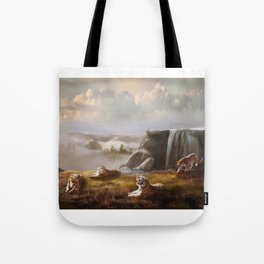 Endangered Siberian Tigers Tote Bag