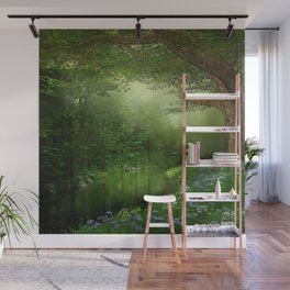 Summer Forest River Wall Mural