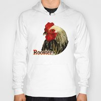 rooster Hoodies featuring Rooster by LudaNayvelt