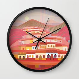 Afternoon in Guatemala Wall Clock