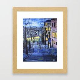 Rainy evening in Amsterdam Framed Art Print