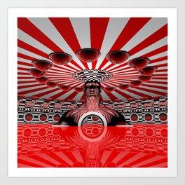 The Red Carousel Art Print