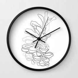 """Christmas Collection"" - Minimal Pinecone Print Wall Clock"