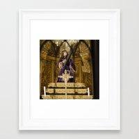 christ Framed Art Prints featuring Christ by Sébastien BOUVIER