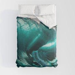 Crystal Clear High Surf - Scarborough Beach, Narragansett, Rhode Island Comforters