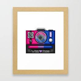 Bi Pride Pixel Camera Framed Art Print