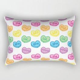 Conversation Hearts Rectangular Pillow