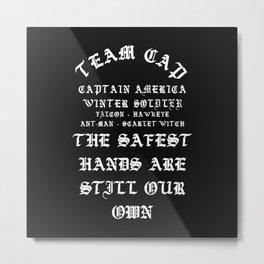 Team Cap YezzusInspired Metal Print