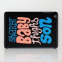 wiz khalifa iPad Cases featuring Baby Thighs by Chris Piascik
