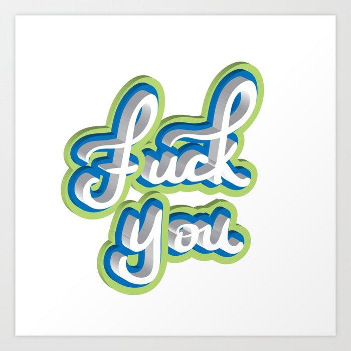 Adult Swear Word Art Print
