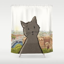 City Cat Shower Curtain