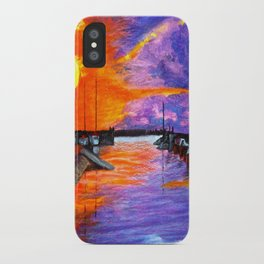 Sunset Harbor iPhone Case