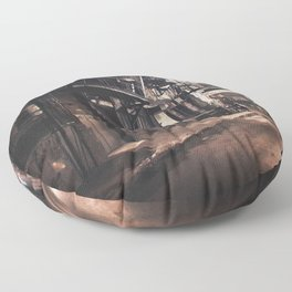New York City - Small Hours After Midnight Floor Pillow