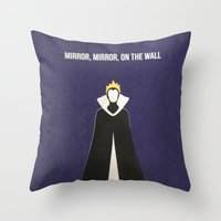 evil queen Throw Pillows featuring Disney Villain - Evil Queen by Tessa Simpson