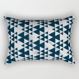 Southwestern Triangle Design over White Grey Marble Rectangular Pillow