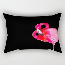 Fancy Flamingo Rectangular Pillow