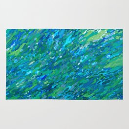 Shades Of Blue Waterfall Rug