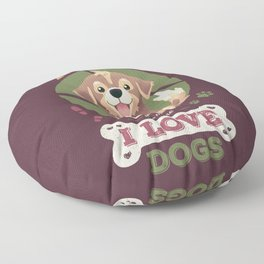 The More I Know People // I Love Dogs, Funny Quote, Puppy, Adopt Don't Shop Floor Pillow