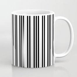 Black and White Piano Stripes Repeating Pattern Coffee Mug
