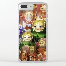 Matryoshka dolls Clear iPhone Case