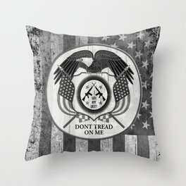 Faith Hope Liberty & Freedom Eagle on US flag Throw Pillow