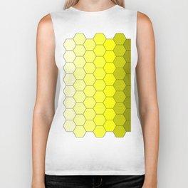 Hexagons (Yellow) Biker Tank