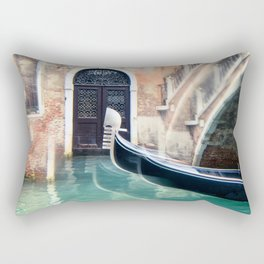 Gondola on the Canal in Venice Rectangular Pillow