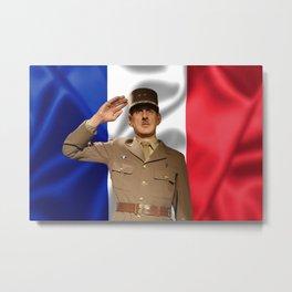Charles de Gaulle Metal Print
