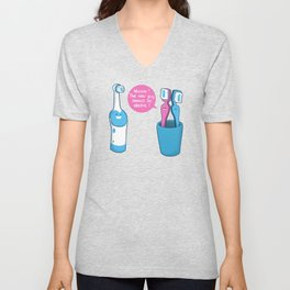 Toothbrush Fall In Electric Love Unisex V-Neck