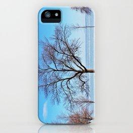 The Tree by the Frozen Lake iPhone Case