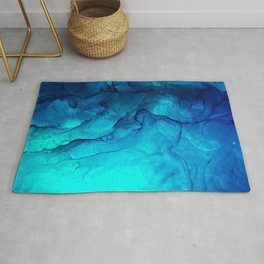 Navy and mint moment Rug