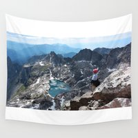 montana Wall Tapestries featuring Montana Mountain by wyattr