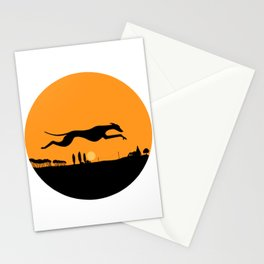 Halloween Whippet Stationery Cards
