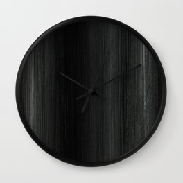 Algorithmic Linen Pure Black and Silver Steel Grey Wall Clock