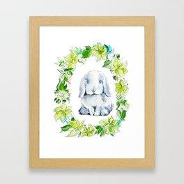 Bunny Baby Framed Art Print