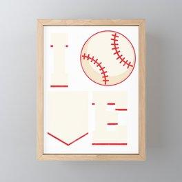 Baseball Player Baseball Pitcher I Love Baseball Fielder  Framed Mini Art Print