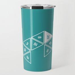 Teal Unrolled D20 Travel Mug