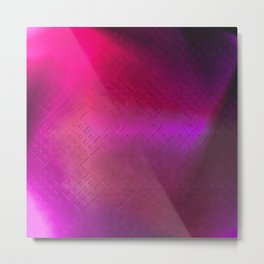 Eternal Knot Pattern 2 (magenta) Metal Print