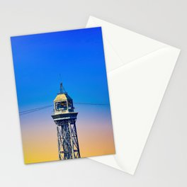 Port Cable Car in Barcelona Stationery Cards