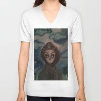 tarot V-neck T-shirts featuring Death/Tarot by Kathead Tarot/David Rivera